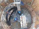 【大阪府H市】大口径シールド管に耐振性継手取付け施工φ4050